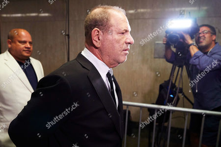 Disgraced movie producer Harvey Weinstein (C) arrives to New York State Supreme Court for a hearing related to his upcoming trial on charges of rape and sexual assault in New York, New York, USA, 26 August 2019. Weinstein is being re-arraigned on revised charges based on rape accusations from actress Annabella Sciorra and a judge in the case was expected to rule on a motion by defense attorneys to move the case out of New York City.