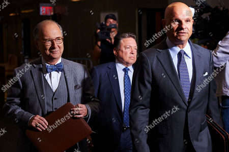 Attorney Arthur Aidala (R), who represents Harvey Weinstein (not pictured), arrives at New York State Supreme Court for a hearing related to Weinstein's upcoming trial on charges of rape and sexual assault in New York, New York, USA, 26 August 2019. Weinstein is being re-arraigned on revised charges based on rape accusations from actress Annabella Sciorra and a judge in the case was expected to rule on a motion by defense attorneys to move the case out of New York City.