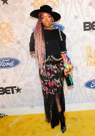 Brandy arrives at the red carpet at the 2019 Black Girls Rock! Awards at the New Jersey Performing Arts Center, in Newark, NJ