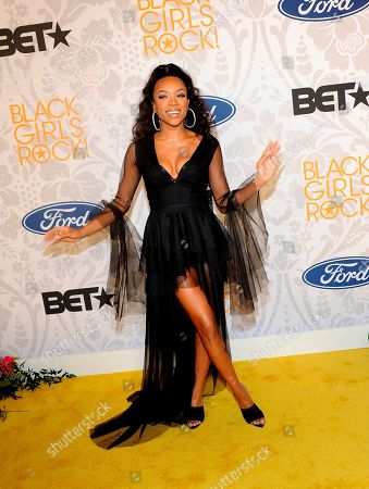 Stock Image of Lil Mama arrives at the red carpet at the 2019 Black Girls Rock! Awards at the New Jersey Performing Arts Center, in Newark, NJ