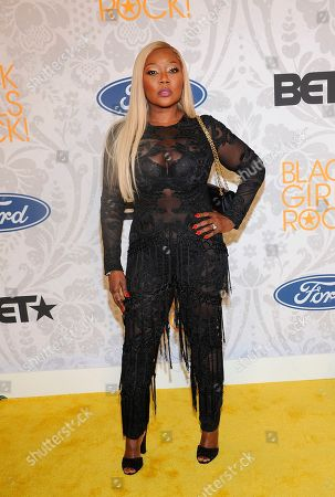 LaTocha Scott arrives at the red carpet at the 2019 Black Girls Rock! Awards at the New Jersey Performing Arts Center, in Newark, NJ