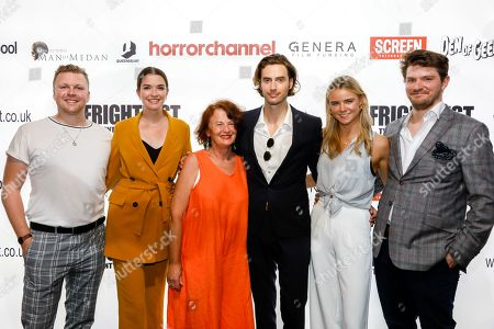 Stock Picture of Charlie Robb (Stacks), Margaret Clunie, (Victoria), MAUREEN BENNETT (The Mirror Crack?d), Timothy Renouf (Killer Weekend), Jessica Webber (Cassette) and Tom Bailey  attend the screening of 'Here Comes Hell'