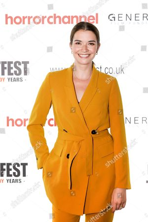 Margaret Clunie (Victoria) attends the screening of 'Here Comes Hell'