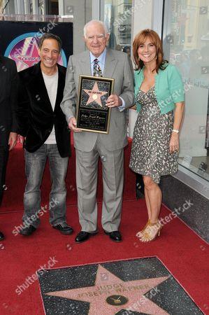 Stock Image of Harvey Levin, Judge Joe Wapner and Judge Marilyn Milian