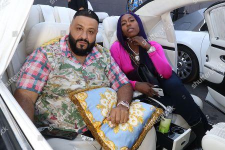 Stock Photo of DJ Khaled and Kash Doll