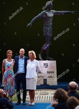 Editorial photo of FC Barcelona inaugurates a statue dedicated to Johan Cruyff next to Camp Nou stadium, Spain - 26 Aug 2019