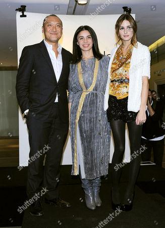 Joe Zee, Tia Cibani and Olivia Palermo