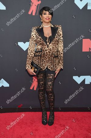 Sandra Denton, also known as Pepa, from Salt-N-Pepa, arrives at the MTV Video Music Awards at the Prudential Center, in Newark, N.J
