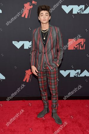 Asher Angel arrives at the MTV Video Music Awards at the Prudential Center, in Newark, N.J