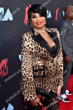 Stock Photo of Sandra Denton, also known as Pepa, from Salt-N-Pepa, arrives at the MTV Video Music Awards at the Prudential Center, in Newark, N.J