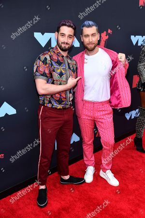 Michael Turchin, Lance Bass. Michael Turchin, left, and Lance Bass arrive at the MTV Video Music Awards at the Prudential Center, in Newark, N.J