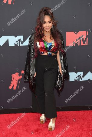"Nicole Snooki Polizzi. Nicole "" Nicole Snooki Polizzi "" Polizzi arrives at the MTV Video Music Awards at the Prudential Center, in Newark, N.J"
