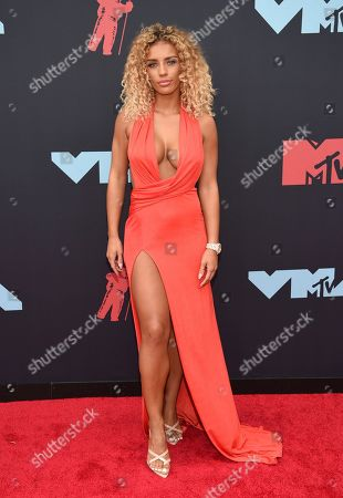 Jena Frumes arrives at the MTV Video Music Awards at the Prudential Center, in Newark, N.J