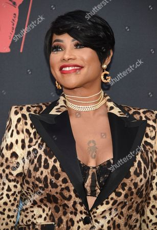 Stock Picture of Sandra Denton arrives at the MTV Video Music Awards at the Prudential Center, in Newark, N.J