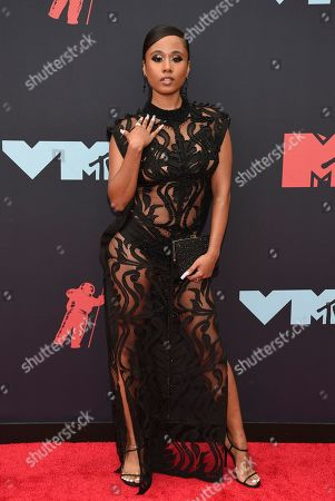Jazzy Amra arrives at the MTV Video Music Awards at the Prudential Center, in Newark, N.J