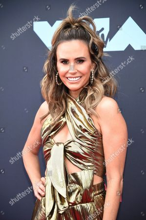 Keltie Knight arrives at the MTV Video Music Awards at the Prudential Center, in Newark, N.J