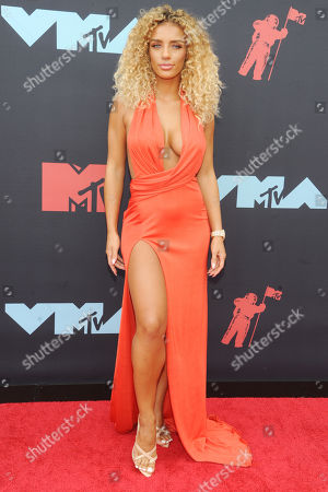 Stock Image of Jena Frumes arrives on the red carpet for the 2019 MTV Video Music Awards at Prudential Center in Newark, New Jersey, USA, 26 August 2019