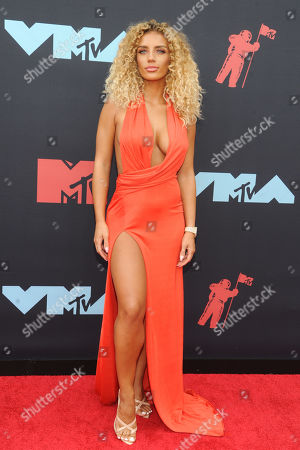 Stock Picture of Jena Frumes arrives on the red carpet for the 2019 MTV Video Music Awards at Prudential Center in Newark, New Jersey, USA, 26 August 2019