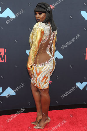 US musical artist Amara La Negra arrives on the red carpet for the 2019 MTV Video Music Awards at Prudential Center in Newark, New Jersey, USA, 26 August 2019
