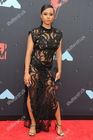 US musical artist Jazzy Amra arrives on the red carpet for the 2019 MTV Video Music Awards at Prudential Center in Newark, New Jersey, USA, 26 August 2019