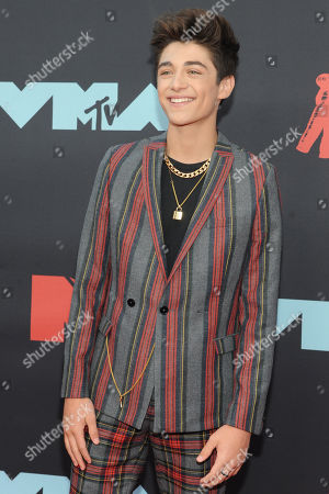 Asher Angel arrives on the red carpet for the 2019 MTV Video Music Awards at Prudential Center in Newark, New Jersey, USA, 26 August 2019