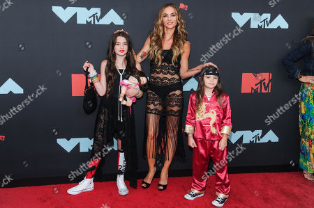 Drea de Matteo (C) arrives on the red carpet for the 2019 MTV Video Music Awards at Prudential Center in Newark, New Jersey, USA, 26 August 2019