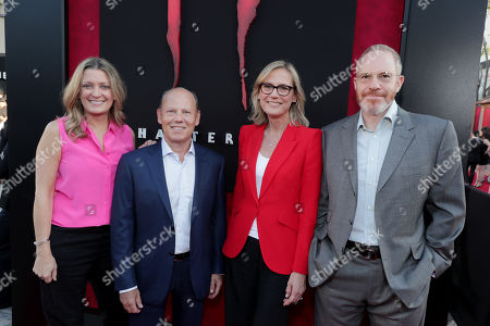 Carolyn Blackwood, President and Chief Content Officer, New Line Cinema, Ron Sanders, President, Worldwide Theatrical Distribution and President, Warner Bros. Home Entertainment, Ann Sarnoff, Chair and CEO, Warner Bros., Toby Emmerich, Chairman, Warner Bros. Pictures Group,