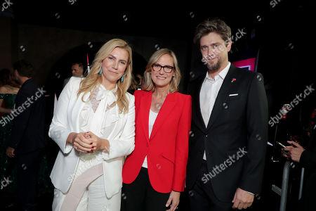 Barbara Muschietti, Producer, Ann Sarnoff, Chair and CEO, Warner Bros., Andy Muschietti, Director,