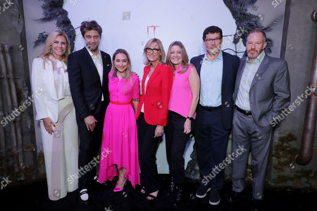 Barbara Muschietti, Producer, Andy Muschietti, Director, Blair Rich, President, Worldwide Marketing, Warner Bros. Pictures Group and Warner Bros. Home Entertainment, Ann Sarnoff, Chair and CEO, Warner Bros., Carolyn Blackwood, President and Chief Content Officer, New Line Cinema, Richard Brener, President & Chief Creative Officer, New Line Cinema, Toby Emmerich, Chairman, Warner Bros. Pictures Group,