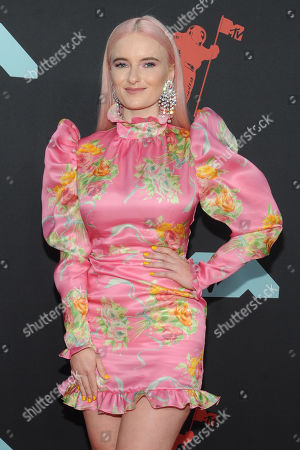 Grace Chatto arrives on the red carpet for the 2019 MTV Video Music Awards at the Prudential Center in Newark, New Jersey, USA, 26 August 2019.