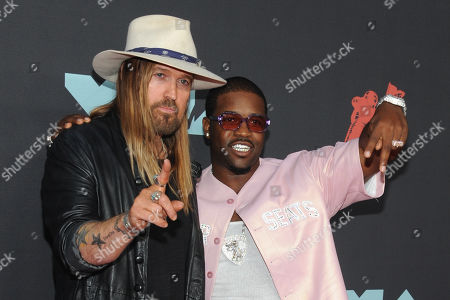 Billy Ray Cyrus and US rapper A$AP Ferg arrive on the red carpet for the 2019 MTV Video Music Awards at the Prudential Center in Newark, New Jersey, USA, 26 August 2019.