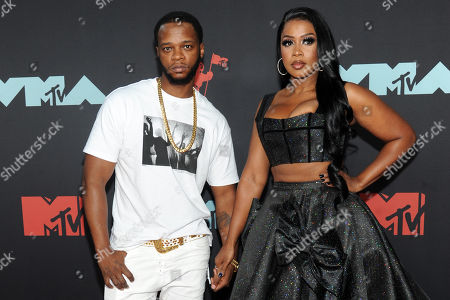 Papoose (L) and US rapper Remy Ma (R) arrive on the red carpet for the 2019 MTV Video Music Awards at the Prudential Center in Newark, New Jersey, USA, 26 August 2019.