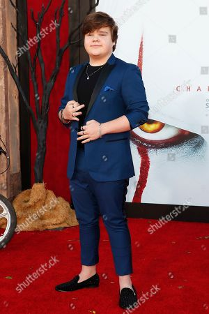 Jeremy Ray Taylor arriving for the world premiere of Warner Bros. Pictures' It Chapter Two at the Regency Village Theater in Westwood, Los Angeles, California, USA 26 August 2019. The movie opens in the US 06 September 2019.