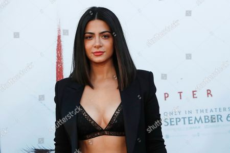Emeraude Toubia arriving for the world premiere of Warner Bros. Pictures' It Chapter Two at the Regency Village Theater in Westwood, Los Angeles, California, USA 26 August 2019. The movie opens in the US 06 September 2019.