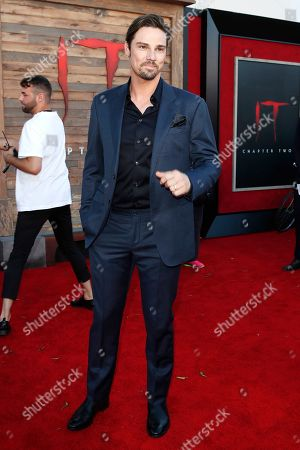 Jay Ryan arriving for the world premiere of Warner Bros. Pictures' It Chapter Two at the Regency Village Theater in Westwood, Los Angeles, California, USA 26 August 2019. The movie opens in the US 06 September 2019.