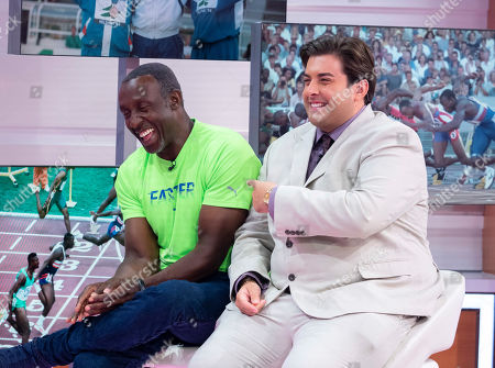 Linford Christie and James Argent