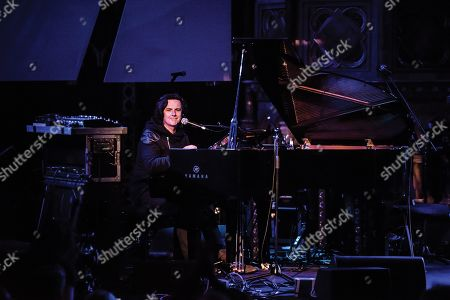 London United Kingdom - October 2: English Progressive Rock Musician Steve Hogarth Performing Live On Stage As Part Of The 10 Years Of Kscope Event At The Union Chapel In London On October 2