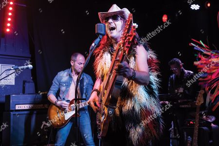 London United Kingdom - July 25: French Rock Musician Franck Carducci Performing Live On Stage At Boston Music Room In London On July 25