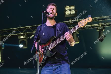 Maidstone United Kingdom - July 1: Bassist And Vocalist Bastian Berchtold Of Austrian Progressive Metal Group Second Relation Performing Live On Stage During Ramblina Man Fair At Mote Park Maidstone On July 1