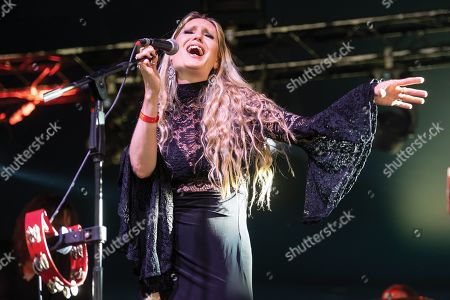 Maidstone United Kingdom - July 1: Vocalist Olivia Sparnenn Of English Progressive Rock Group Mostly Autumn Performing Live On Stage During Ramblina Man Fair At Mote Park Maidstone On July 1