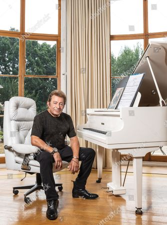 Stock Image of Shenley United Kingdom - July 26: Portrait Of British-american Musician And Composer Jeff Wayne Photographed At His Home In Hertfordshire England On July 26