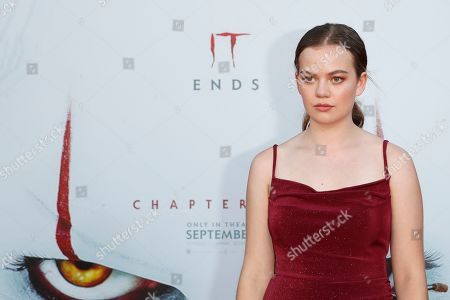 Megan Charpentier arrives for the world premiere of the Warner Bros. Pictures 'It - Chapter Two' at the Regency Village Theater in Westwood, Los Angeles, California, USA, late 26 August 2019 (issued 27 August 2019). The movie will be shown in the US from 06 September 2019.