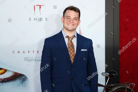 Jake Sim arrives for the world premiere of the Warner Bros. Pictures 'It - Chapter Two' at the Regency Village Theater in Westwood, Los Angeles, California, USA, late 26 August 2019 (issued 27 August 2019). The movie will be shown in the US from 06 September 2019.