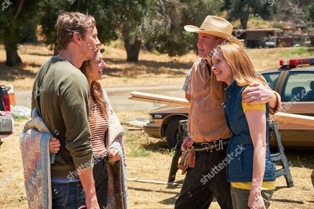 Dax Shepard as Mike, Lake Bell as Rio, David Koechner as Beau Bowman and Lennon Parham as Kay Bowman