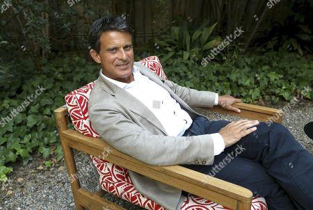Manuel Valls posing during an interview held at Hotel Alma de Barcelona