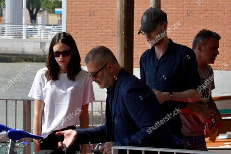 Stock Image of Stacy Martin and Daniel Blumberg arrives at Venice airport.