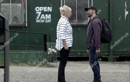 Ep 9861 Friday 30th August 2019 - 1st Ep Eileen Grimshaw, as played by Sue Cleaver, meets up with Jan, as played by Piotr Baumann, at a truck stop and deeply upset, explains that she can't move away with him.