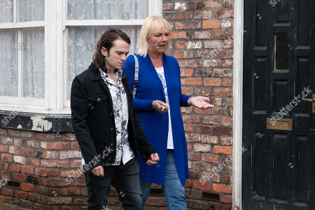 Ep 9860 Wednesday 28th August 2019 - 2nd Ep Eileen Grimshaw, as played by Sue Cleaver, and Seb Franklin, as played by Harry Visinoni, return to number 11 unaware that Rachel is watching them from across the road.