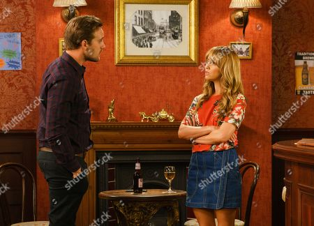 Ep 9870 Monday 9th September 2019 - 2nd Ep When Maria Connor, as played by Samia Longchambon, overhears Ali Neeson, as played by James Burrows, and Emma whispering she jumps to conclusions and accuses Ali of cheating on her with Emma. When Ali reveals he's booked a posh hotel for them and Emma's agreed to babysit, Maria feels foolish.