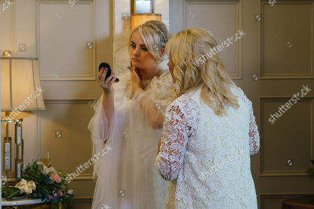Ep 9869 Monday 9th September 2019 - 1st Ep As Beth Tinker, as played by Lisa George, helps Sinead Tinker, as played by Katie McGlynn, do her hair, she's horrified to discover a lump on Sinead's neck.